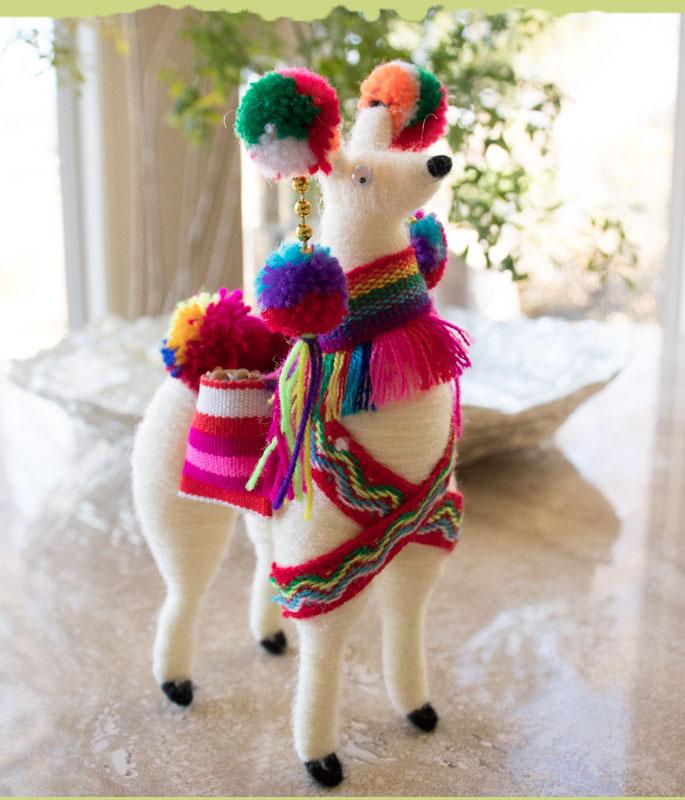 Llama Peruvian Ornament Ethnic Decoration 5.5 in Tall