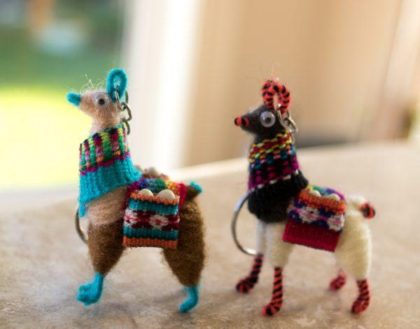 Andean-llama-keychain