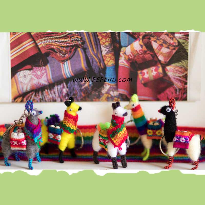 Llama Key Chain Peruvian Miniature Collectible Set of 75