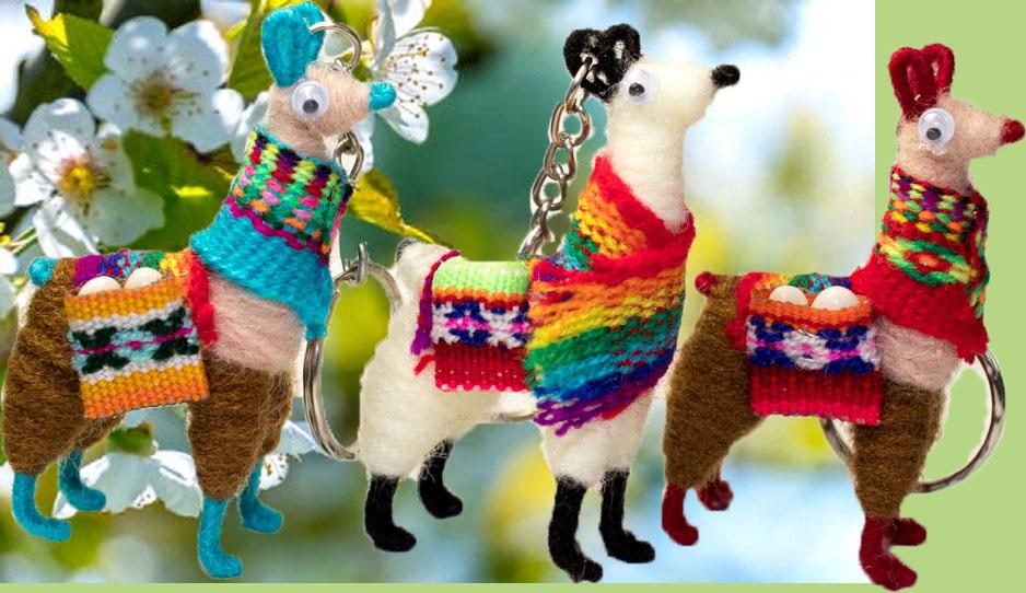 Peruvian Llama Keychain Wholesale Keychain Llama Miniature Alpaca