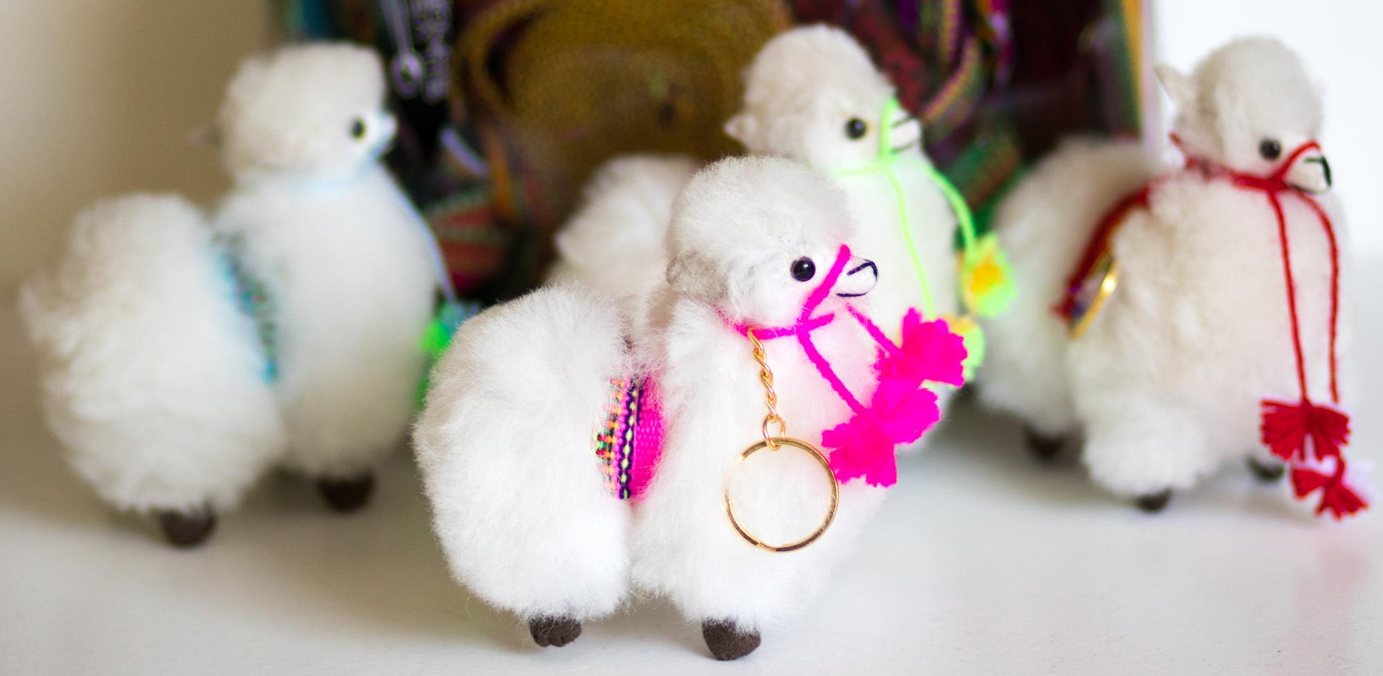 Andean Baby Alpaca Key Chain Charm